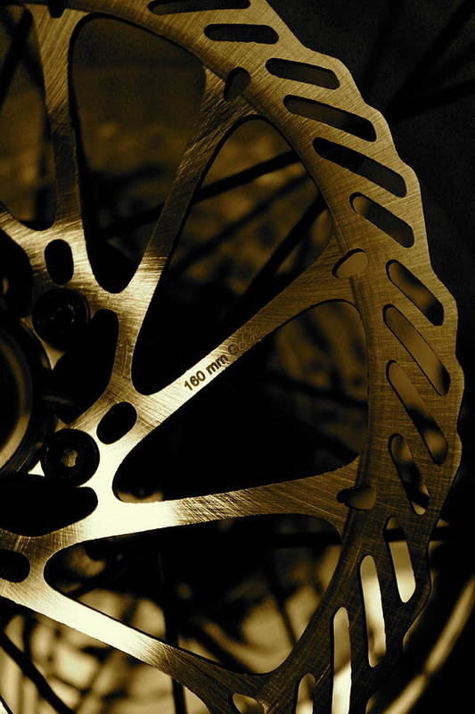 Bike Art Print featuring the photograph Bike Brake by Angie Wingerd