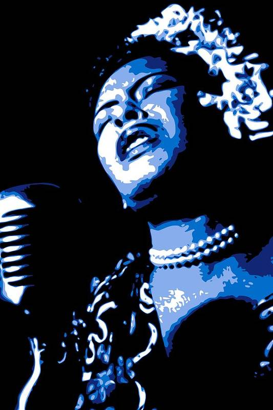 Billie Holiday Print featuring the digital art Billie Holiday by DB Artist