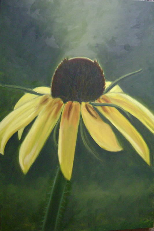 Flower Art Print featuring the painting Black Eyed Susan by Toni Berry