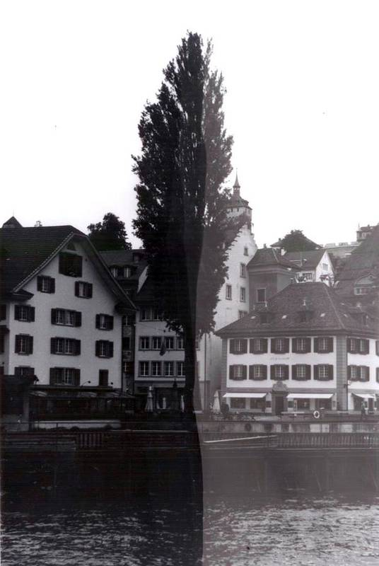 Black And White Art Print featuring the photograph Black Lucerne by Christian Eberli