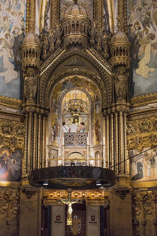 Black Madonna Montserrat Spain Art Print By Jon Berghoff