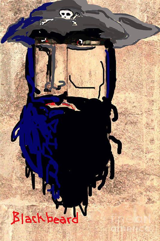 Pirate Caricature Art Print featuring the photograph Blackbeard The Pirate by Joe Jake Pratt