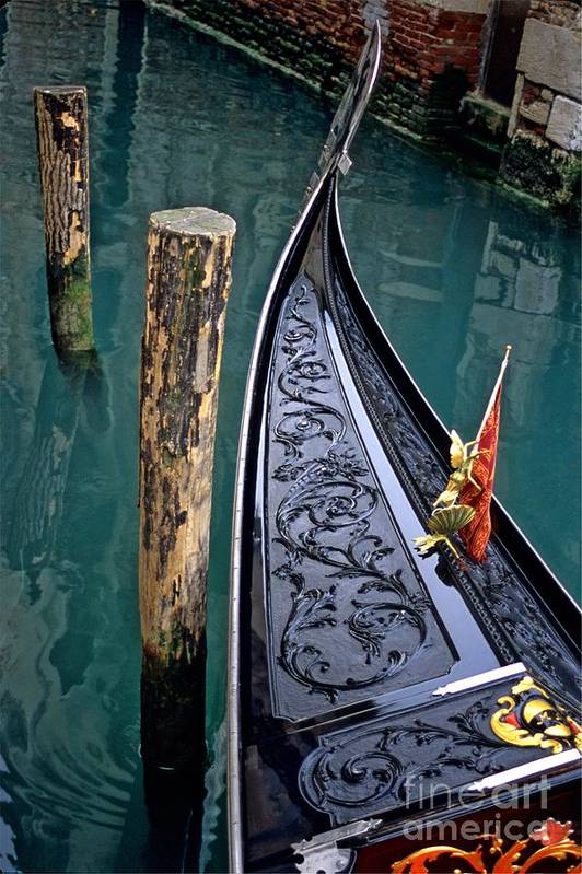 Italy Art Print featuring the photograph Bow Of Gondola In Venice by Michael Henderson