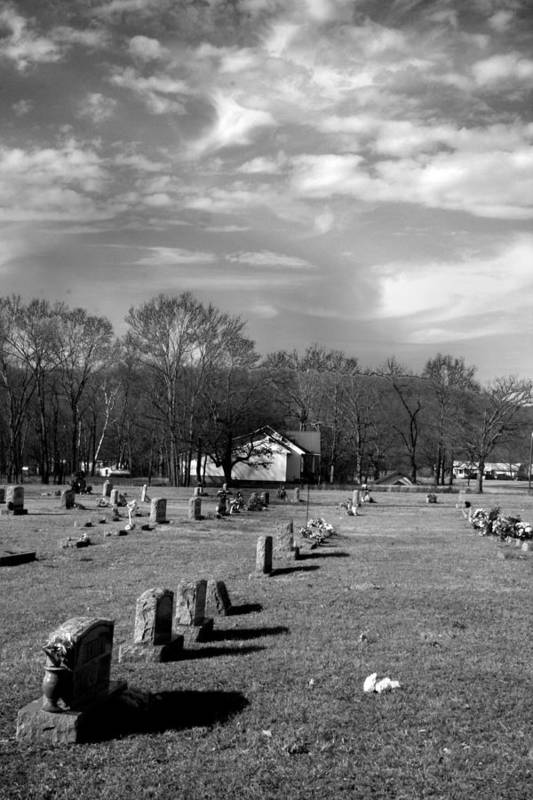 Ansel Adams Art Print featuring the photograph Brentway-cemetery by Curtis J Neeley Jr