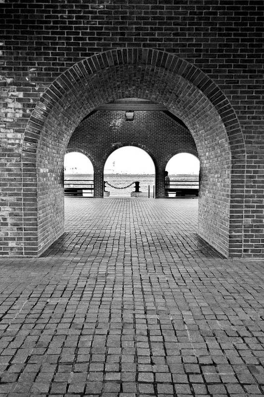 Arch Print featuring the photograph Brick Arch by Greg Fortier