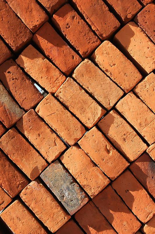 Adobe Art Print featuring the photograph Bricks Made From Adobe by Robert Hamm