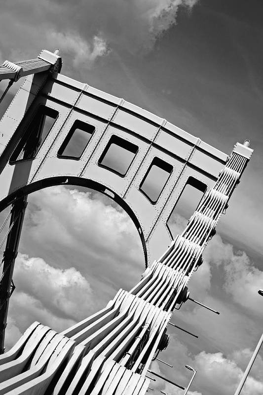 Pittsburgh Print featuring the photograph Bridge Top Pittsburgh Pa by Kristen Vota