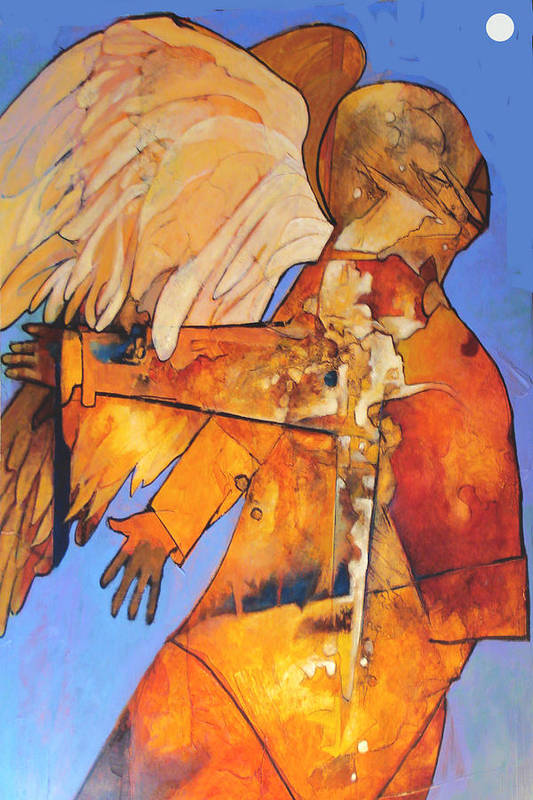 Figure Art Print featuring the painting Broken Wings by Dale Witherow