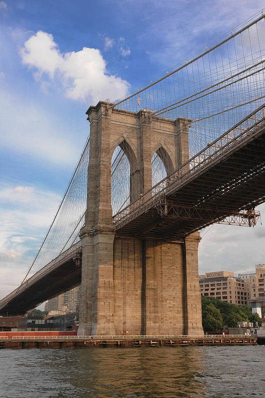 Brooklyn Bridge Art Print featuring the photograph Brooklyn Bridge - Eastbound by Frank Mari
