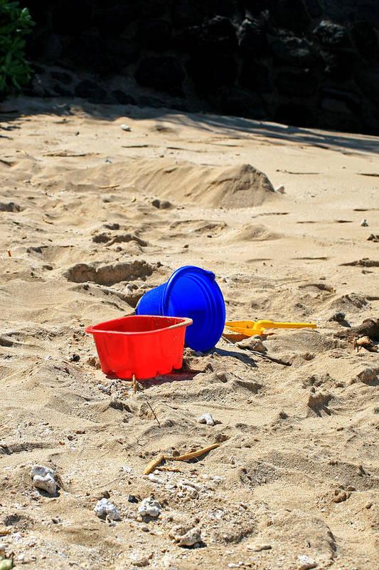 Buckets Art Print featuring the photograph Buckets Of Fun by Chuck Wedemeier