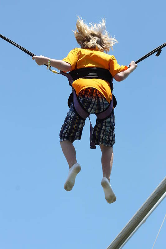 Bungee Jumping Art Print featuring the photograph Bungee Fun II by Hans English