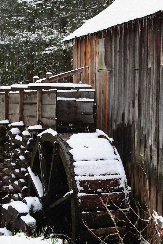 Great Smoky Mountains Art Print featuring the photograph Cades Cove Mill I by Margie Wildblood