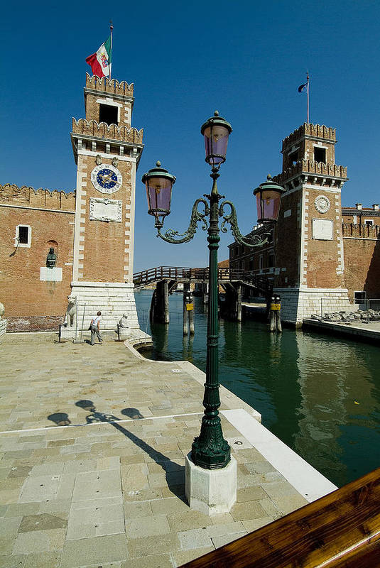 Photography Art Print featuring the photograph Canal Leading Into The Arsenale by Todd Gipstein