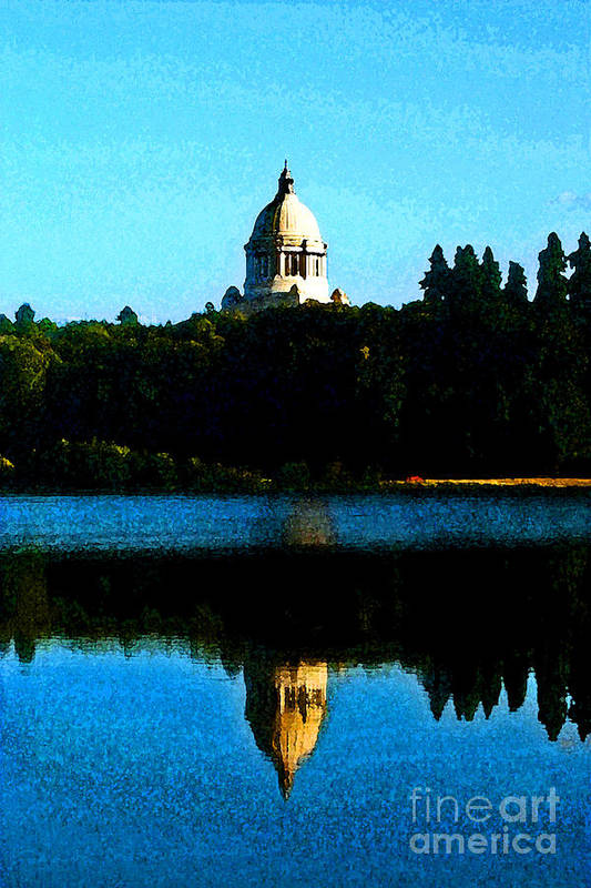 Lake Art Print featuring the photograph Capital Lake by Larry Keahey