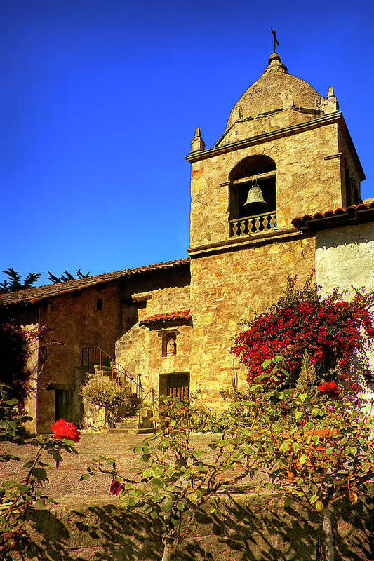 Carmel Mission Art Print featuring the photograph Carmel Mission by Priscilla Burgers