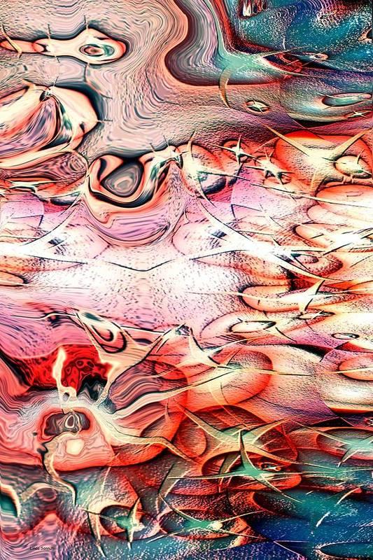 Abstracts Art Print featuring the digital art Cartoon Planet by Linda Sannuti