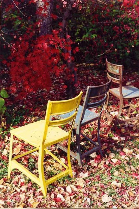 Fall Landscape Art Print featuring the photograph Chairs by Evelynn Eighmey