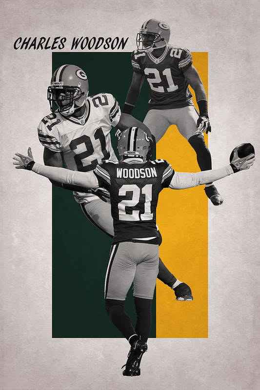 buy popular 4ef6e 042a2 Charles Woodson Packers Art Print