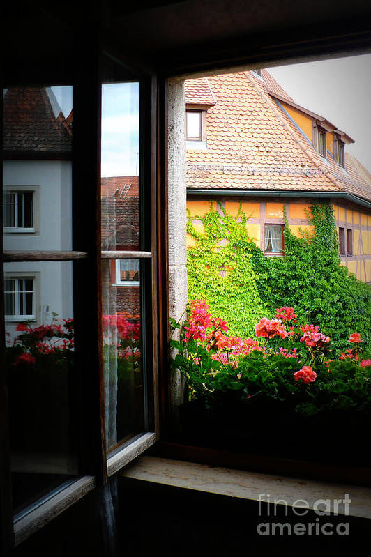 Europe Art Print featuring the photograph Charming Rothenburg Window by Carol Groenen