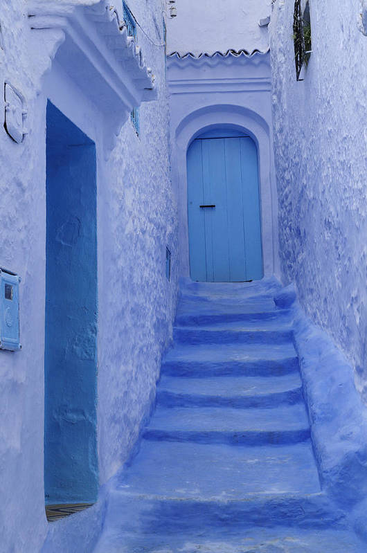 Morocco Art Print featuring the photograph Chefchaouen Morocco by Liz Pinchen