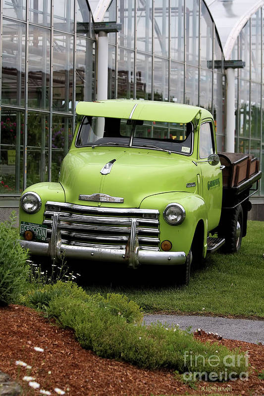 Taken In Vermont At The Nursery I Used To Go To. Art Print featuring the photograph Chevrolet Old by Deborah Benoit