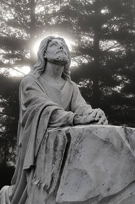 Jesus Christ Art Print featuring the photograph Christ At Prayer by Robert Suits Jr
