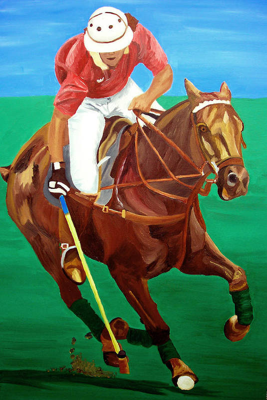 Polo Art Print featuring the painting Chukar by Michael Lee