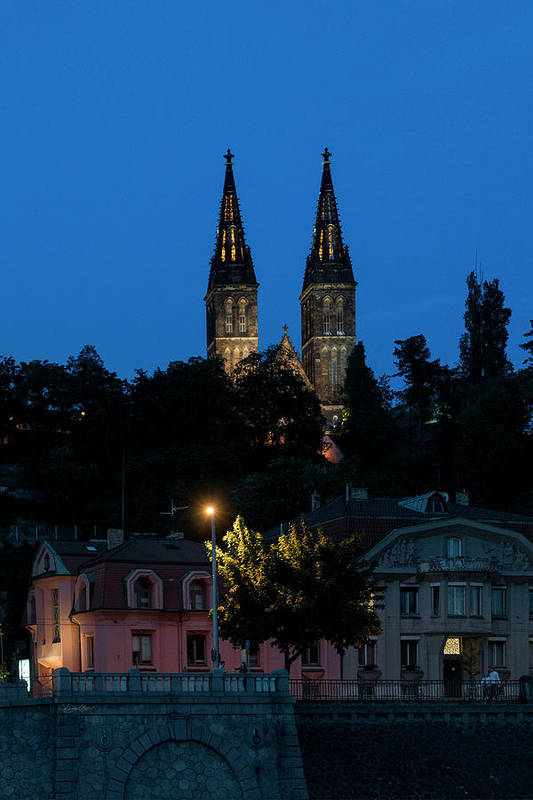 Central Europe Art Print featuring the photograph Church Night by Sharon Popek