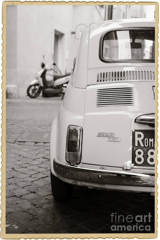 Italy Art Print featuring the photograph Cinquecento Black And White by Stefano Senise