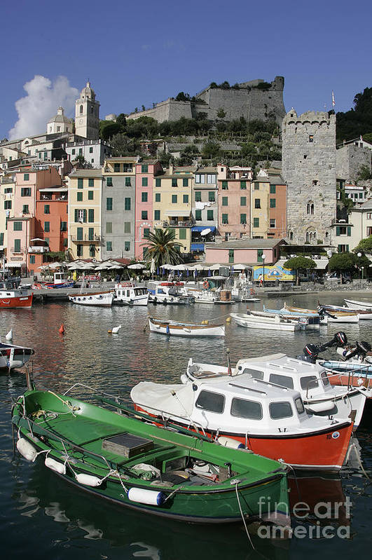 Italy Art Print featuring the photograph Cinqueterre Boats by Stan and Anne Foster