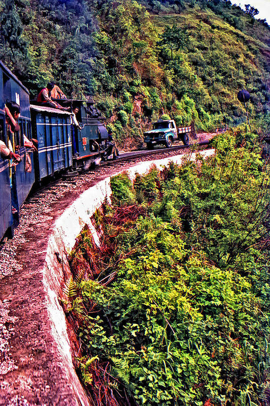 Toy Train Art Print featuring the photograph Climbing The Himalayas by Steve Harrington