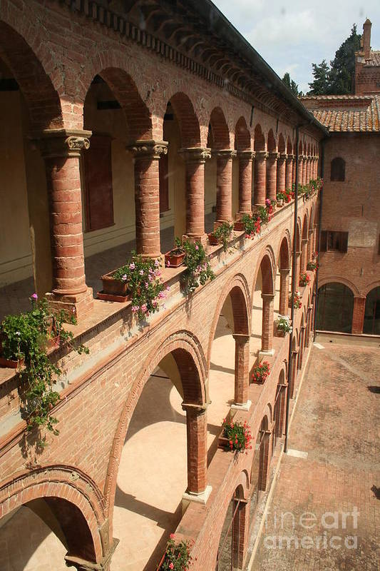 Courtyard Art Print featuring the photograph Cloistered Courtyard by Christiane Schulze Art And Photography