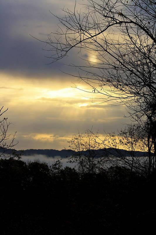 Sunrise Art Print featuring the photograph Cloudy Sunrise 2 by Teresa Mucha