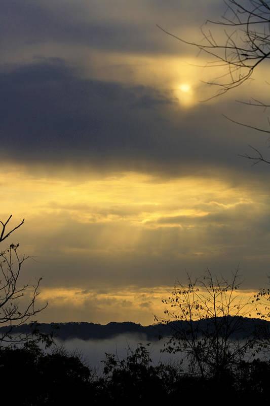 Sunrise Art Print featuring the photograph Cloudy Sunrise 4 by Teresa Mucha