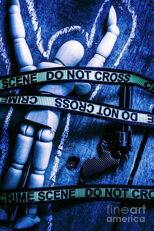 Gun Art Print featuring the photograph Code Blue Csi by Jorgo Photography - Wall Art Gallery