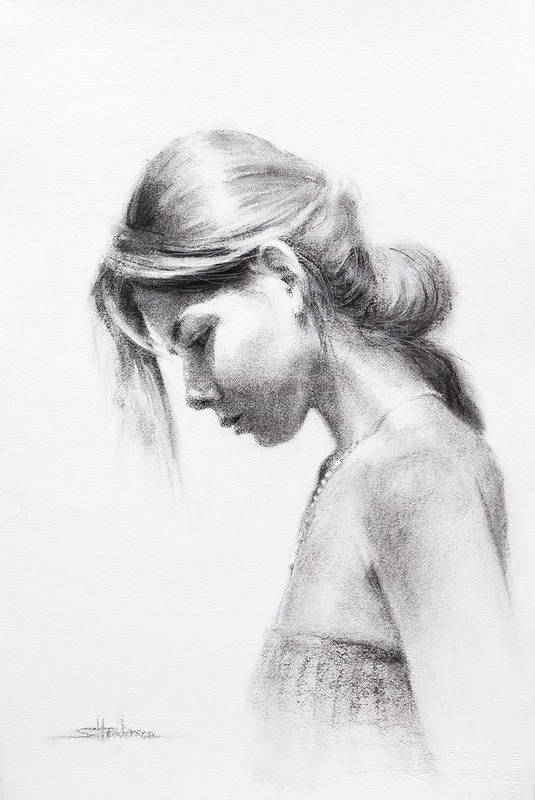 Woman Art Print featuring the drawing Colombiana by Steve Henderson