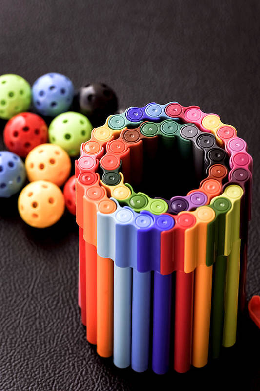 Back To School Art Print featuring the photograph Color Pens1 by Jijo George