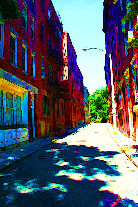Street Art Print featuring the photograph Colorful Place To Live by Julie Lueders