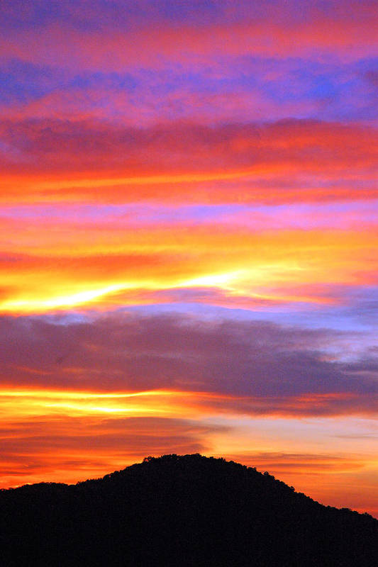 Sunsets Art Print featuring the photograph Colorful Sunset by Robert Anschutz