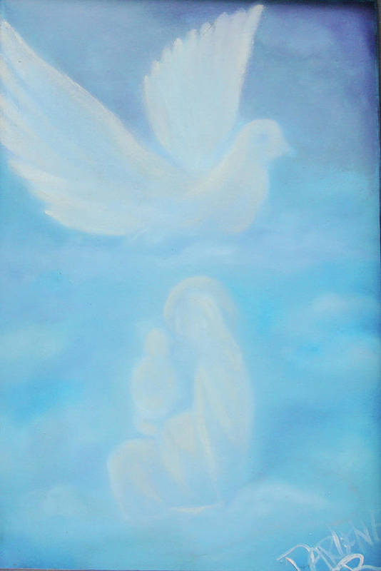 Dove Art Print featuring the painting Come Unto Me by Darlene Green
