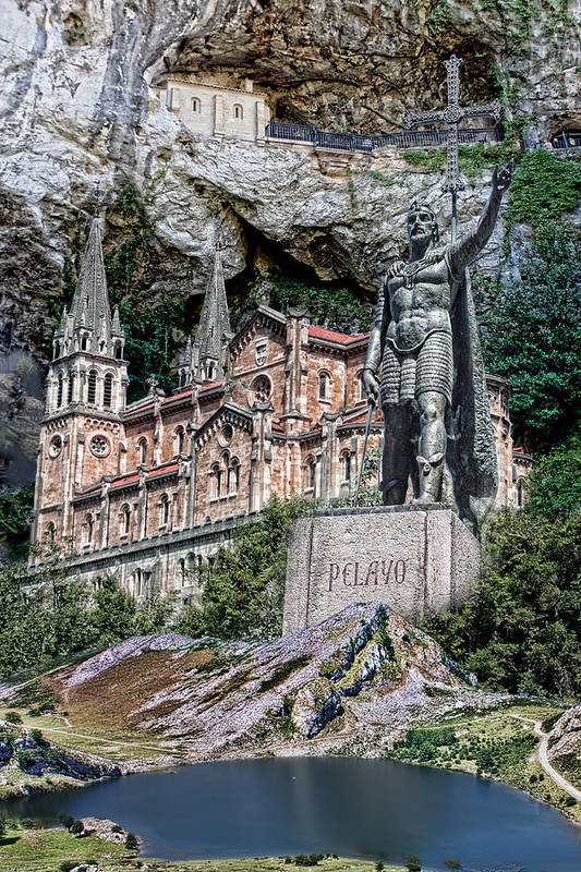 Digital Arts Art Print featuring the photograph Covadonga by Angel Jesus De la Fuente