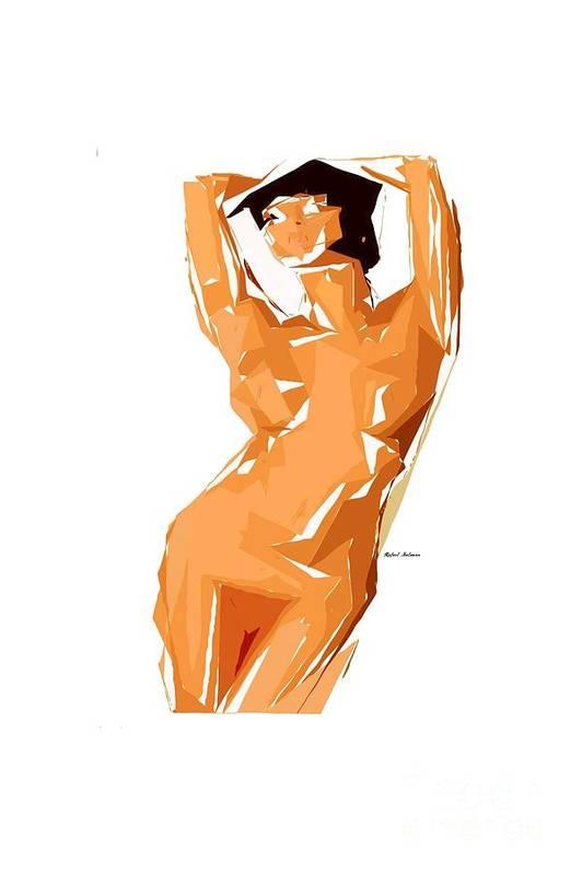 Cubism Art Print featuring the digital art Cubism Series 24 by Rafael Salazar