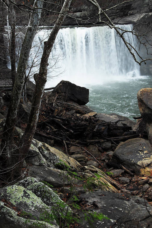 Cumberland Falls Art Print featuring the photograph Cumberland Falls Ky One by Steven Crown
