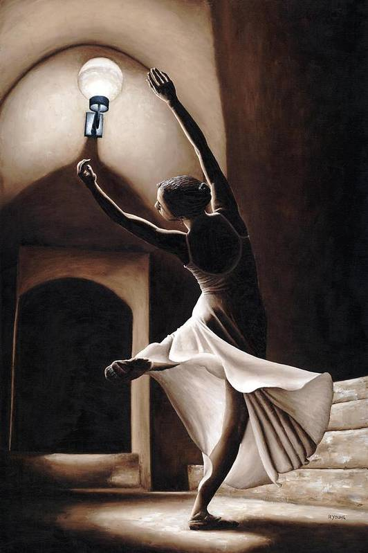 Dance Art Print featuring the painting Dance Seclusion by Richard Young