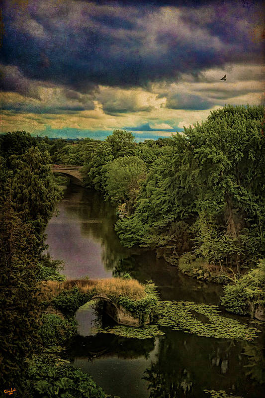 Avon Art Print featuring the photograph Dark Skies Over The Avon by Chris Lord