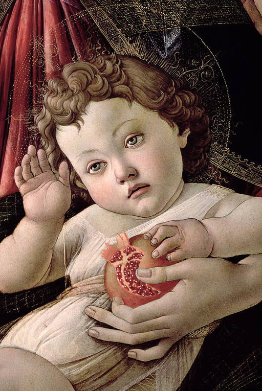 Detail Art Print featuring the painting Detail Of The Christ Child From The Madonna Of The Pomegranate by Sandro Botticelli