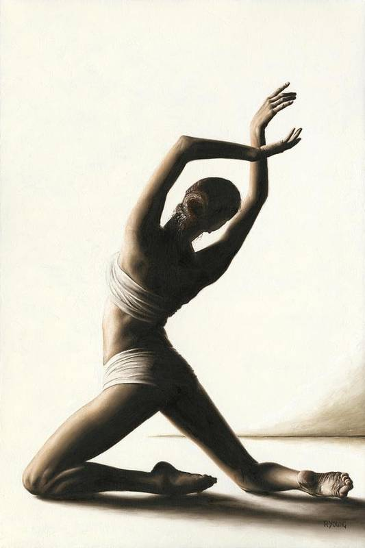 Dancer Art Print featuring the painting Devotion To Dance by Richard Young