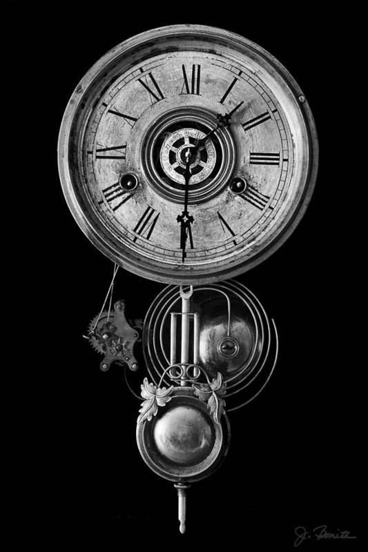 Clock Art Print featuring the photograph Disembodied Time by Joe Bonita