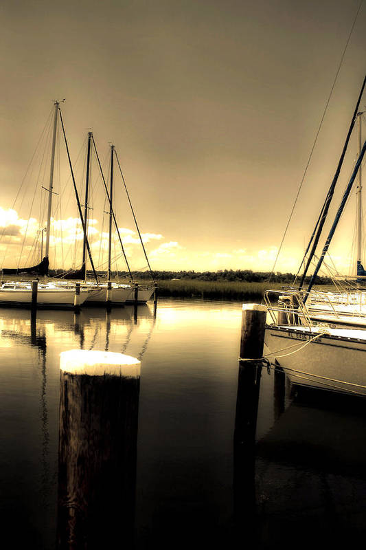 Mobile Al Art Print featuring the photograph Dog River Marina by Gulf Island Photography and Images