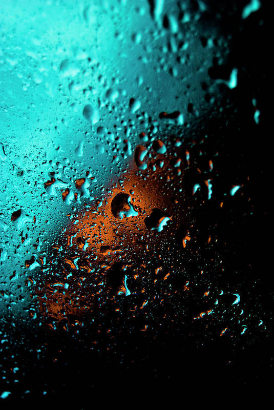 Water Art Print featuring the photograph Droplets V by Grebo Gray